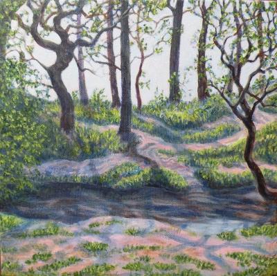 Artist Paintings Of Road To Barnstaple
